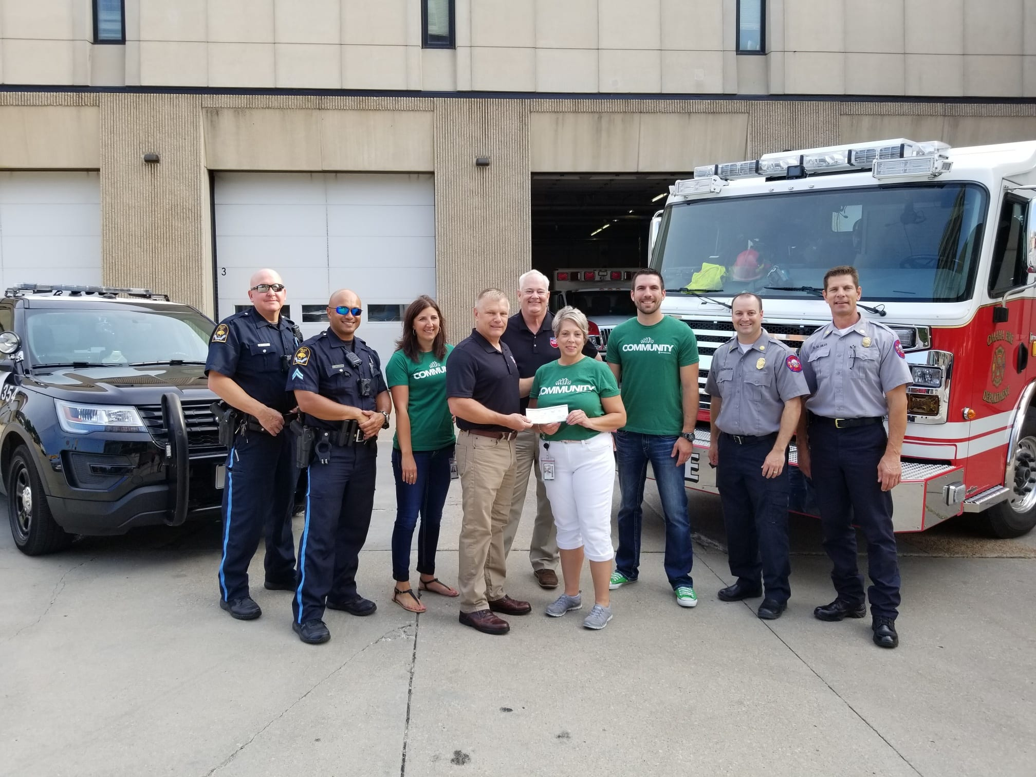 FNB Employee Chooses to Support First Responders with Employee-Directed Donation!