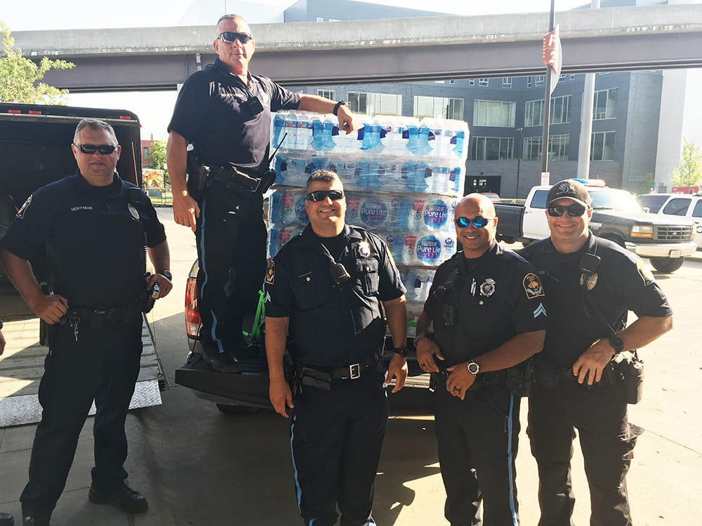 FRF Donates Water to First Responders Working the CWS, Compliments of Bucky's Convenience Stores
