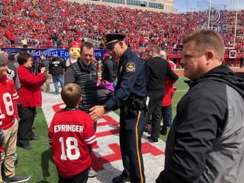 First Responders Honored at the Spring Husker Red White Game