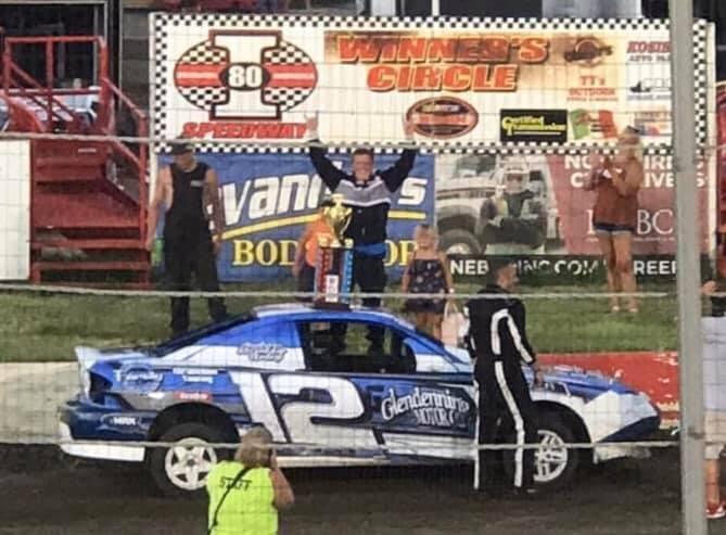Adam A Smith Winner of the I-80 Speedway 2020 Blue Team