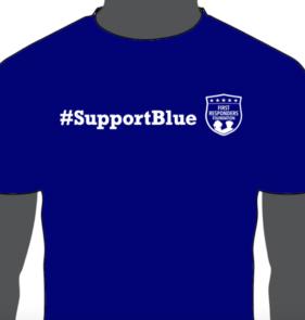 Support Blue Shirt