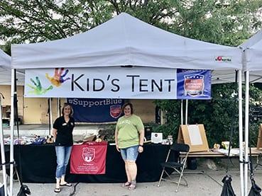 Kids Tent Volunteers